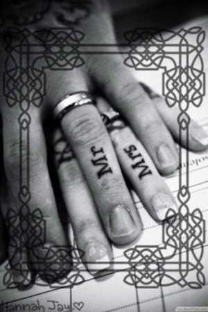 Matching Ring Finger Tattoos For Couples Getting Married