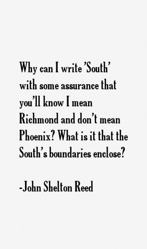 John Shelton Reed Quotes & Sayings