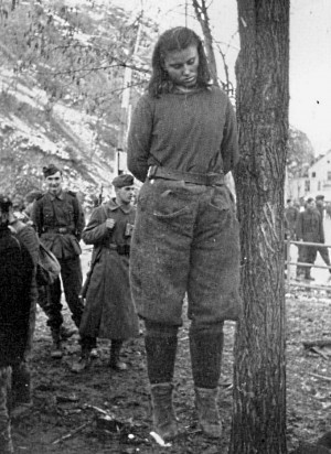 executed at the age of 17 for shooting at German soldiers during WW2 ...