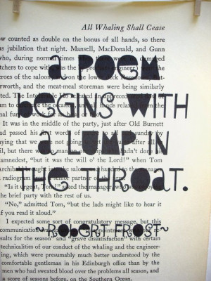 Quote by Robert Frost printed on recycled by yellowbearstudios