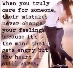 Caring for someone