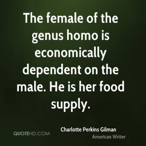 Charlotte Perkins Gilman Food Quotes