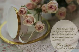 pink teacup with pink roses Henry James quote copy