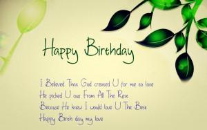 Happy Birthday Love, God Bless you