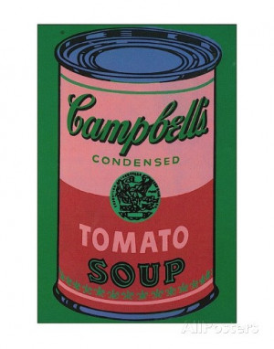 Colored Campbell's Soup Can, c.1965 (red & green) Art Print