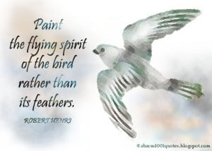 Paint the flying spirit of the bird rather than its feathers.