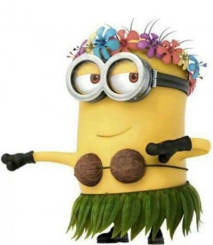 Hula Minion: Aloha Minions, Happy Friday, Hula Dancers, Minions Friday ...
