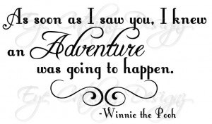 Winnie the Pooh Adventure Quote Home Wall Art Decal Vinyl Decor ...