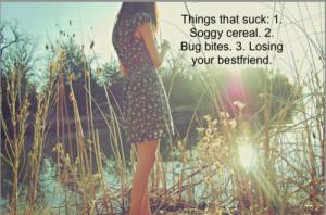 losing your best friend