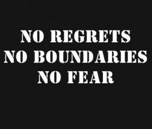 Quotes- No Regrets