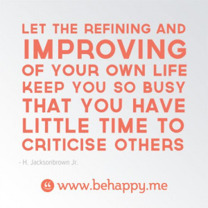 Never Stop Improving.