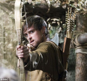 Jonas Armstrong, pictured here as Robin Hood in the popular BBC series