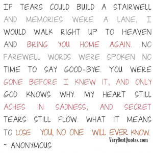 Love You In Heaven Quotes