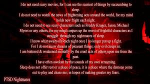 ... Scary Movies, Nightmare Quotes, Ptsd Quotes, Ptsd Nightmare, Ptsd Ocd