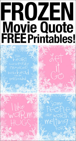 Frozen Quote Free Printables