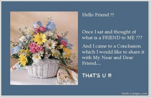 Hello Friend Quotes