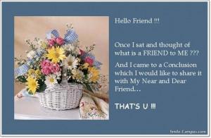 Hello Friend Quotes