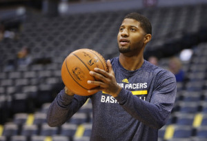 Dec 20, 2014; Denver, CO, USA; Indiana Pacers forward Paul George (13 ...