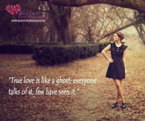 Love is like a ghost
