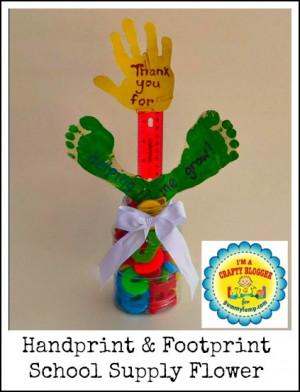 Footprint School Supply Flower Teacher GiftToys Blog, Teachers Gift ...