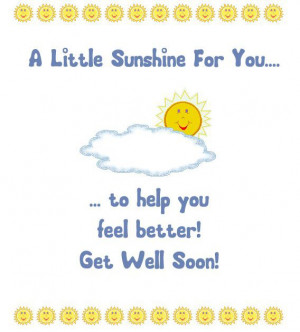 Get Well Soon Card Message