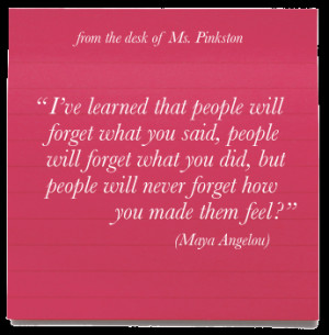 inspirational quotes : Mary Pinkston // DE Teacher of the Year 2010