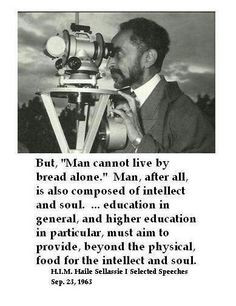 HIM Haile Selassie give us the sound it is up to INI to take head More