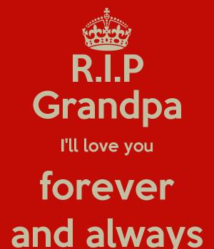 Rip Grandpa Ill Love You...