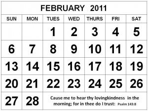 February Quotes For Calendars Christian february 2011