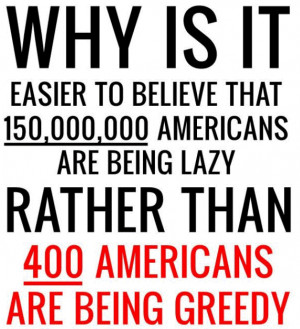 Corporate Greed Versus Unemployment in America