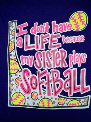 Softball T Shirt Sister