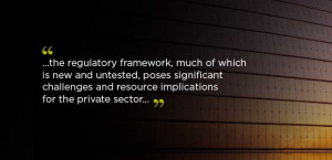 ... challenges and resource implications for the private sector