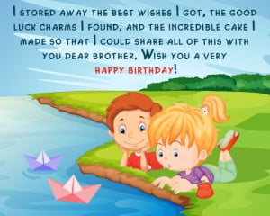 Happy Birthday Little Brother Messages Happy birthday messages for