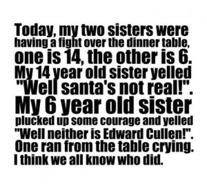 funny sisters fight Santa Funny Pics Funny Images Funny Quotes