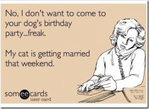 Dogs birthday party ecard
