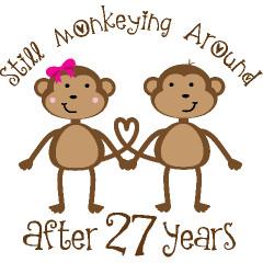 27th Anniversary Funny Monkeys Gift Ideas