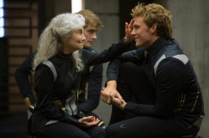 Mags and Finnick before showing their skills in front of the ...