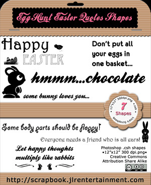 Egg Hunt Easter Quotes Shapes by jlr-lica