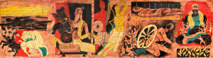 MAHABHARATA ,1990, oil on canvas, 129.5 × 477.5 cm. Courtesy the ...