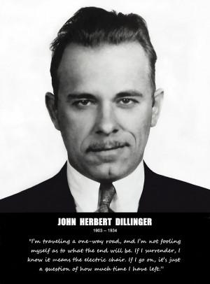 John Dillinger -- Public Enemy No. 1 Photograph