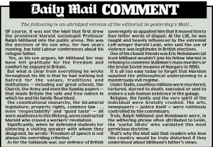 War of words over Red Ed's Marxist dad: Mail critique of Ralph ...