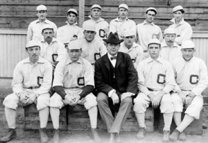 1901 Chicago White Sox with owner Charles Comiskey at South Side Park