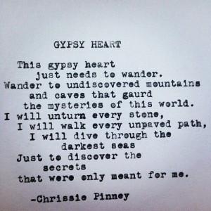Gypsy Heart poem typewriter poetry - Prosper series no. 37 #gypsy # ...