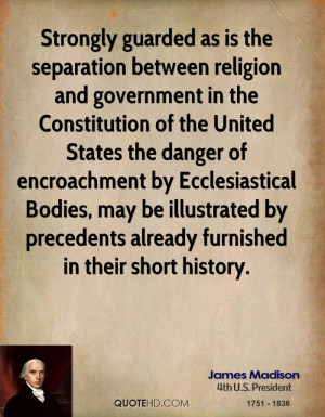 is the separation between religion and government in the Constitution ...