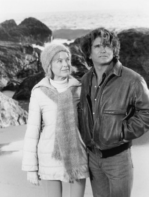 Still of Michael Landon and Dorothy McGuire in Highway to Heaven (1984 ...