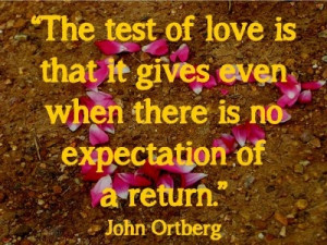 Great quote by John Ortberg.