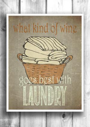 Laundry Room Typographic print digital illustration wall decor ...