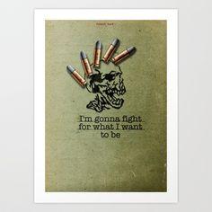 Punk Quotes Poster Serie / Fugazi Said : Fight Art Print by navalorama ...