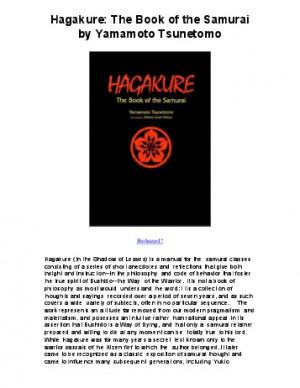 Download Hagakure The Book of the Samurai by - Book Nerd