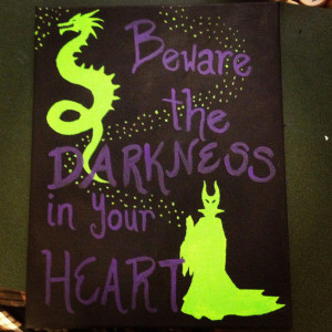 Maleficent Kingdom Hearts Quote Painting